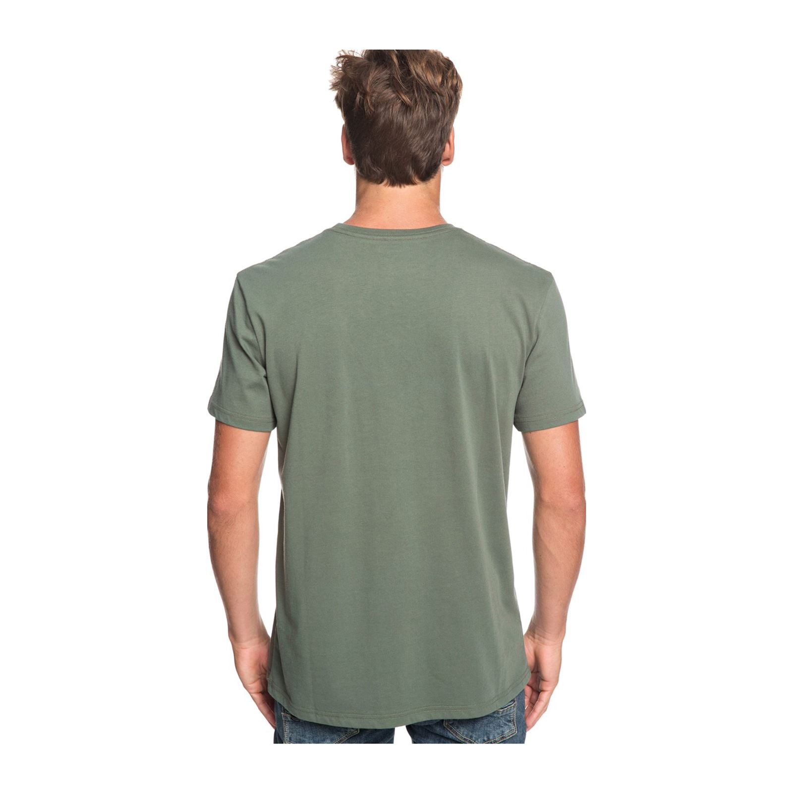 Manches Kaki Courtes Quiksilver T shirt HEnYwgWqvx