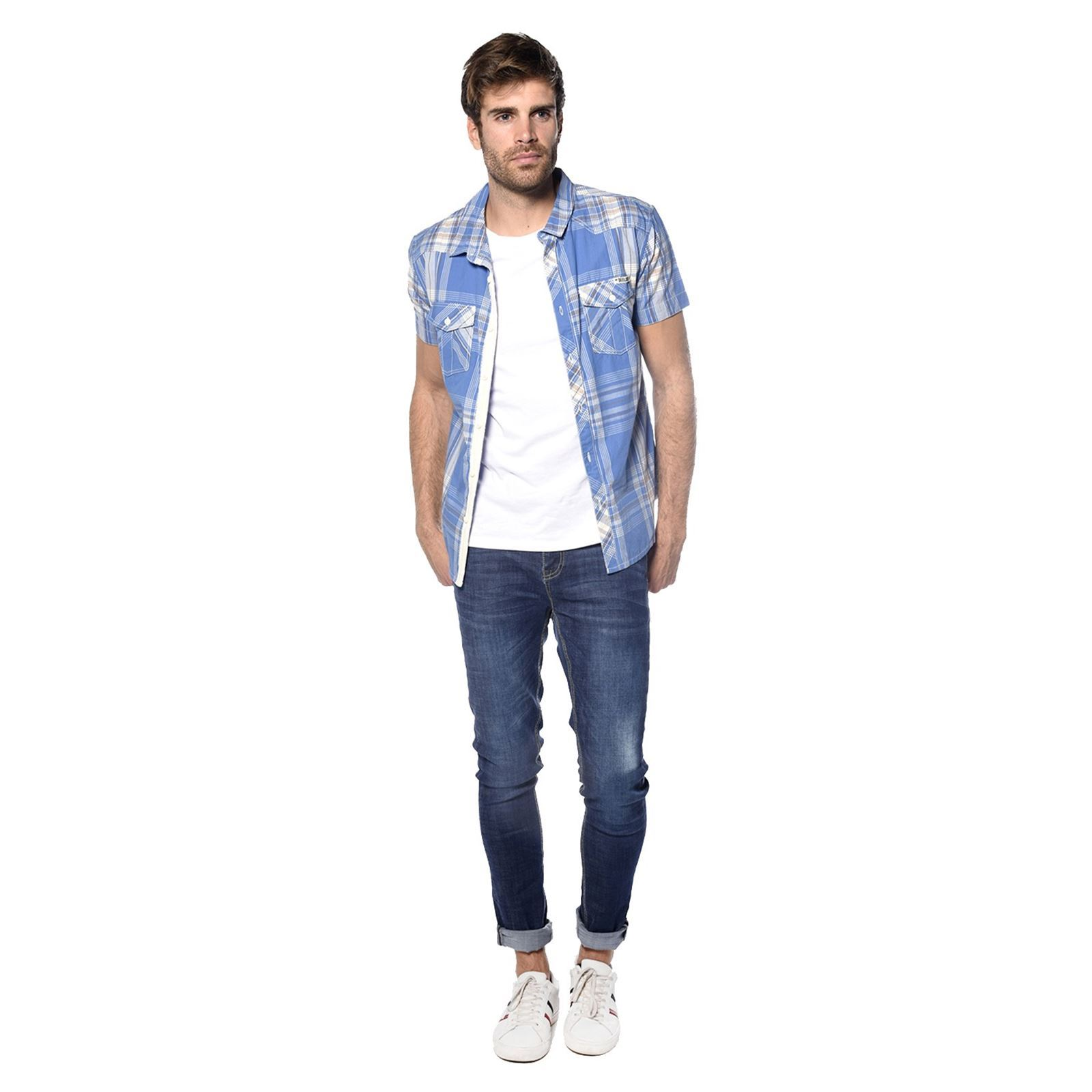 Chemise Manches Deeluxe Bleu Spoty Longues 6w0q05