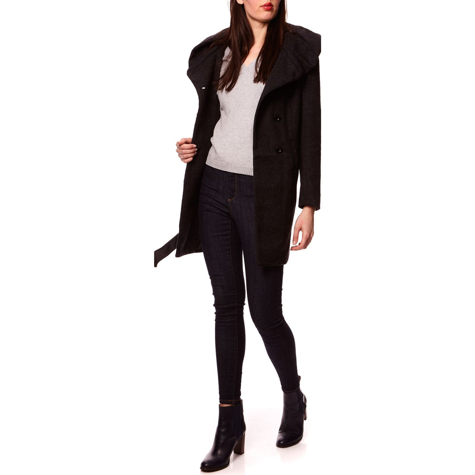 Only Lisa - Manteau 52% laine - noir   BrandAlley b426504988fe