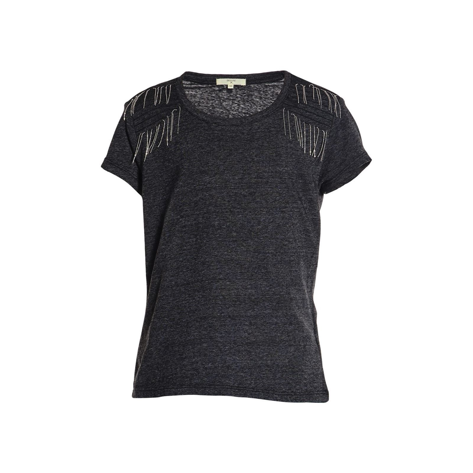 Courtes T shirt Manches Foryou Noir Deeluxe F5IqxPnE