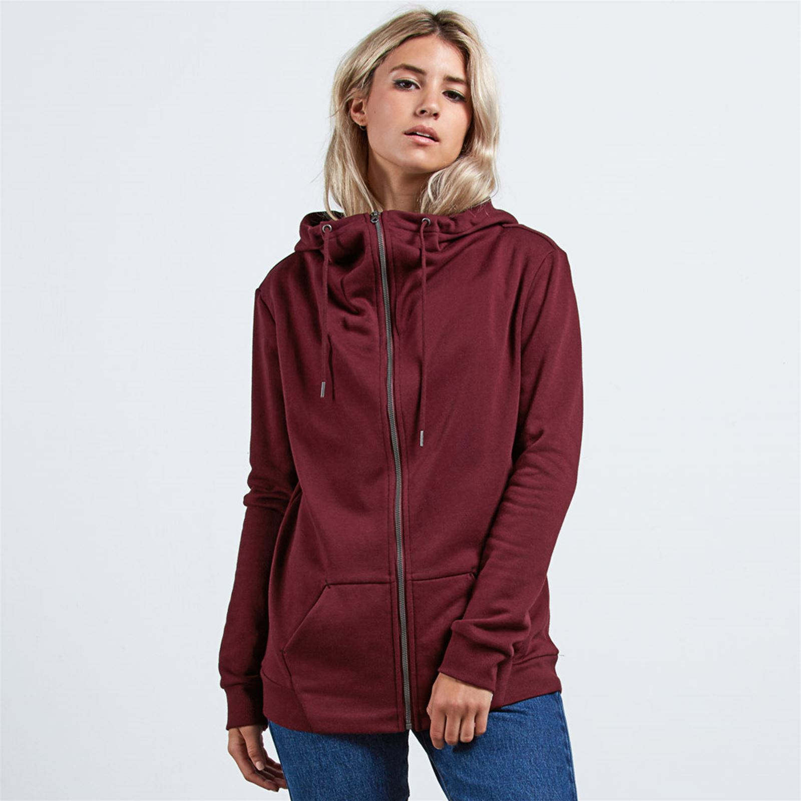 Walk on by zip Sweat à capuche rouge