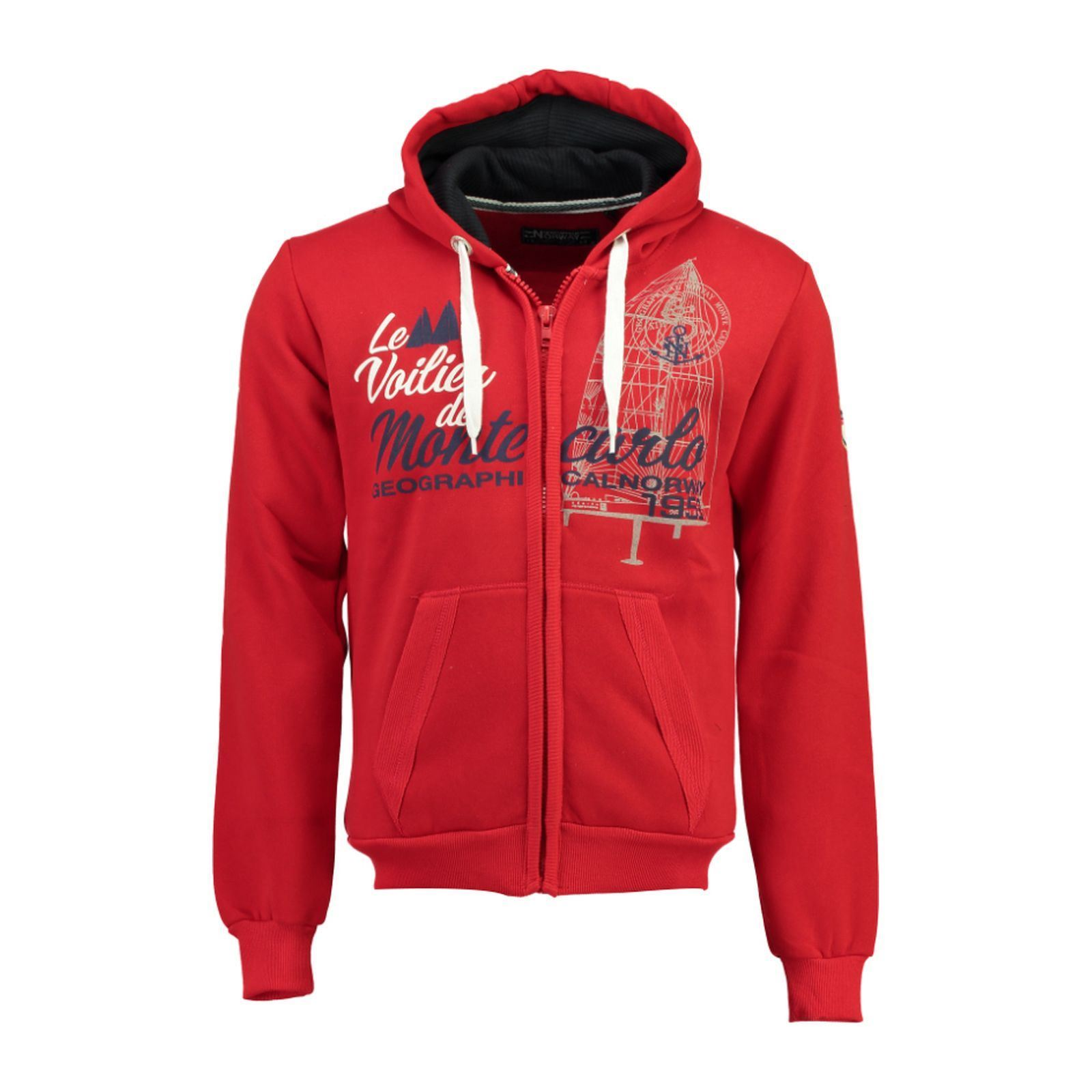 À Capuche Norway Rouge Sweat Geographical qHwOxz6E