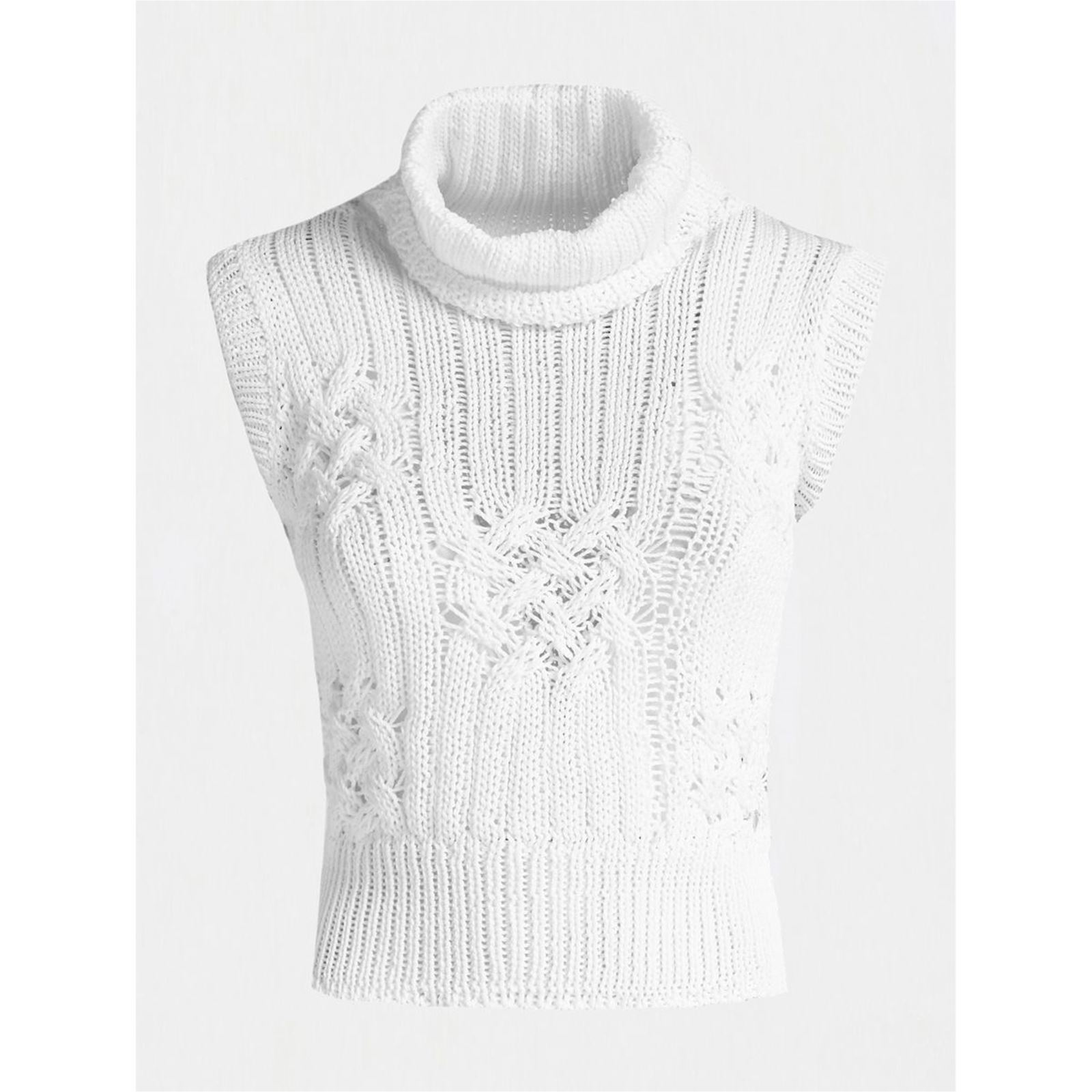 Col Blanc Pull Guess Guess Haut Pull Col w68ppZ