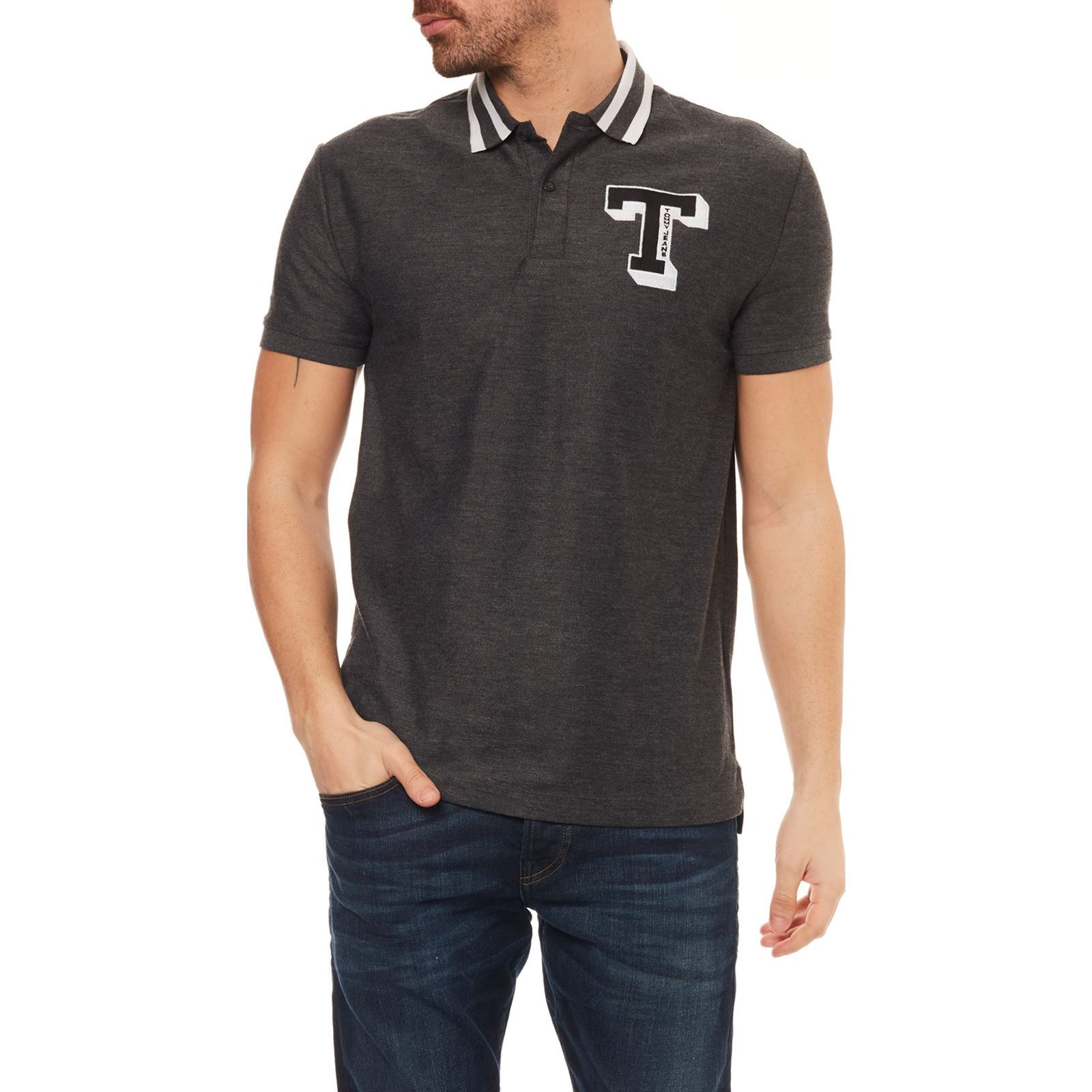 Anthracite Courtes Jeans Tommy Polo Manches HqqIOpF0
