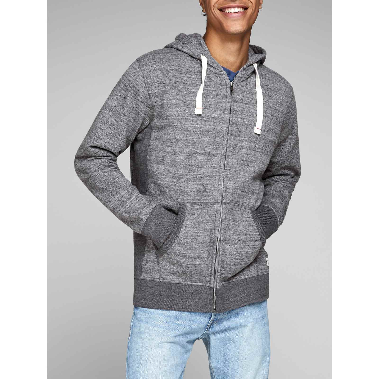 Jjespace  Sweat à Capuche  Gris