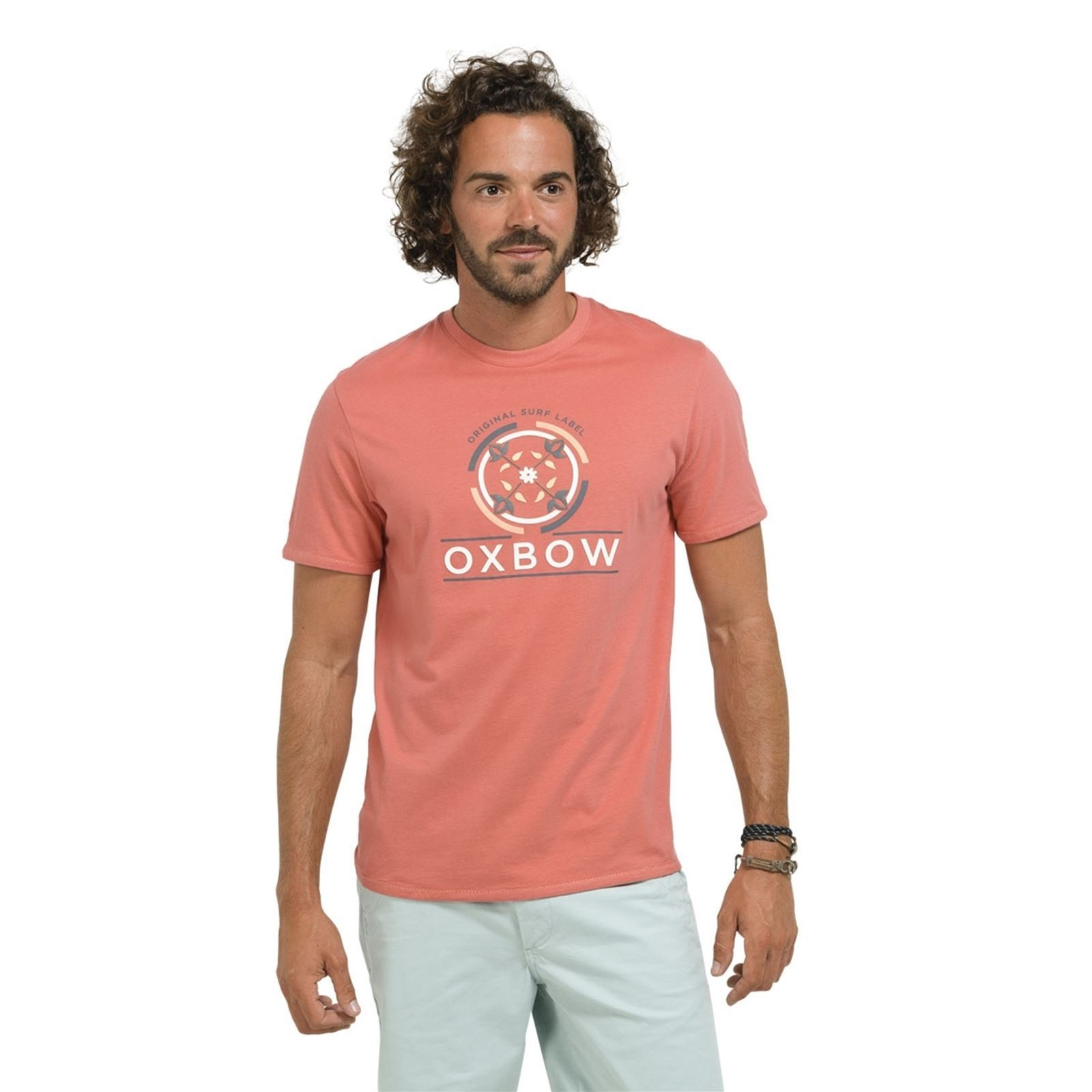 Tzec Manches Abricot shirt T Oxbow Courtes nvxwY464q