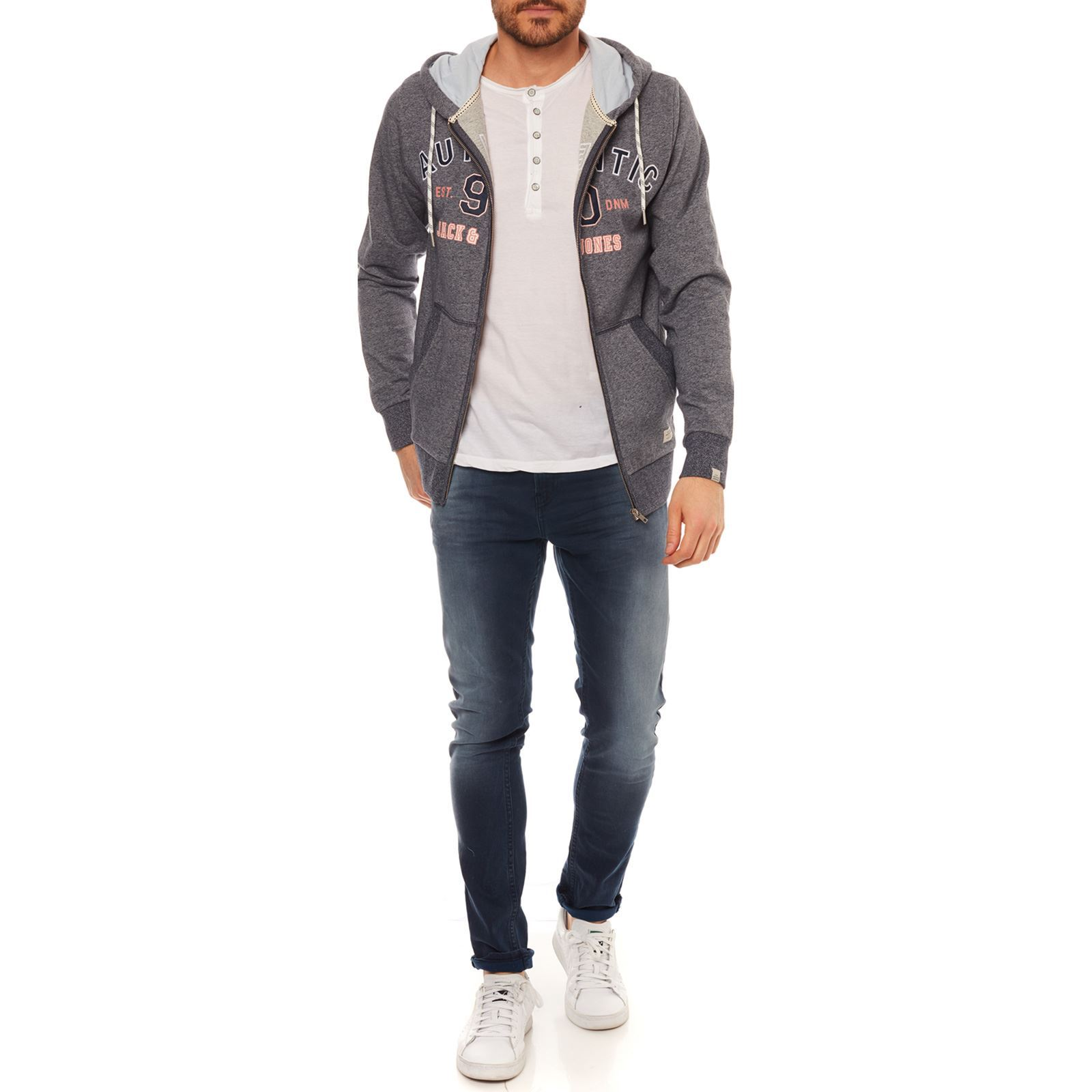 Jorlion Sweat Bleu Marine Capuche Jones amp; Jack À q4AEtAw