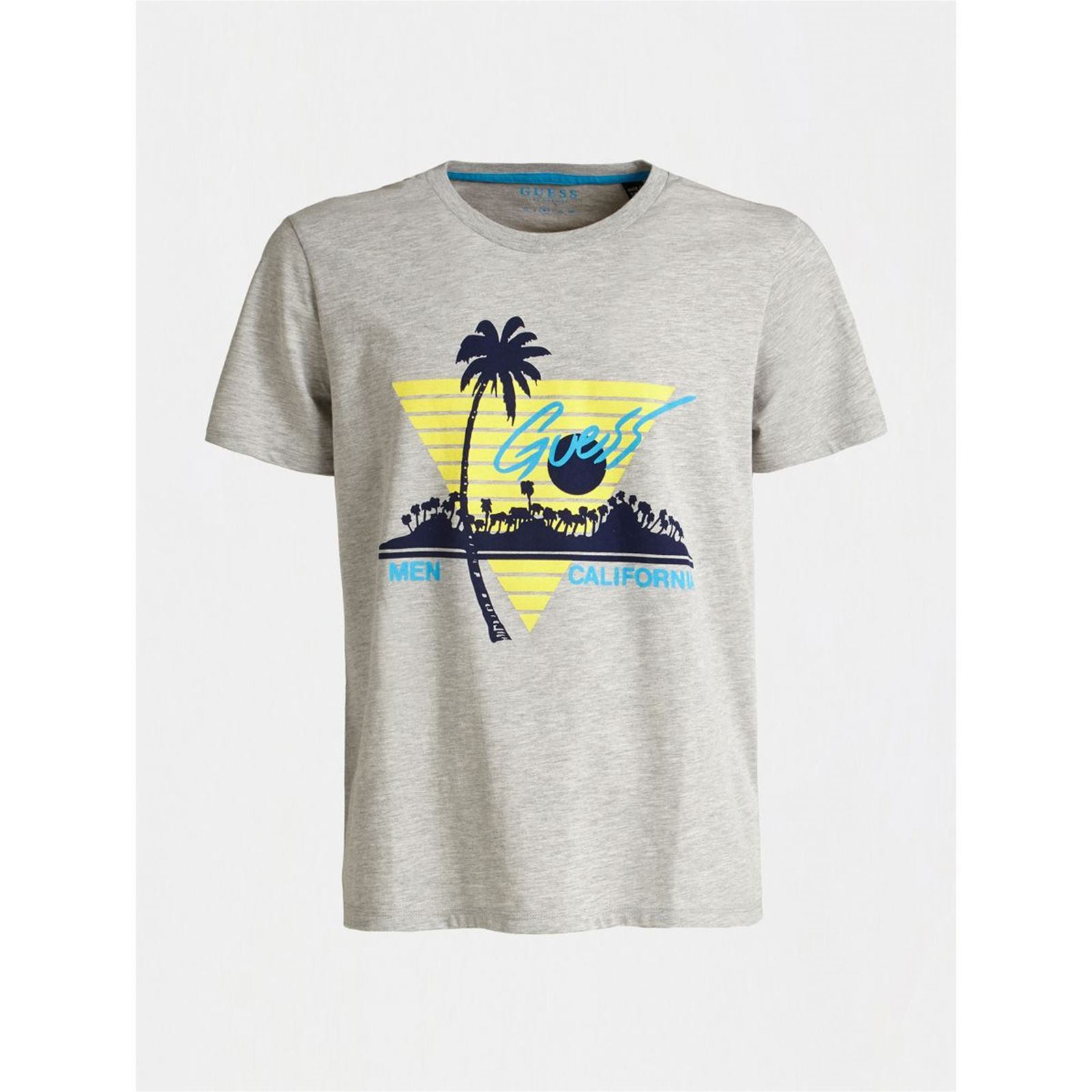 Gris T Logo shirt À Frontal Guess Clair Uw6Aqq