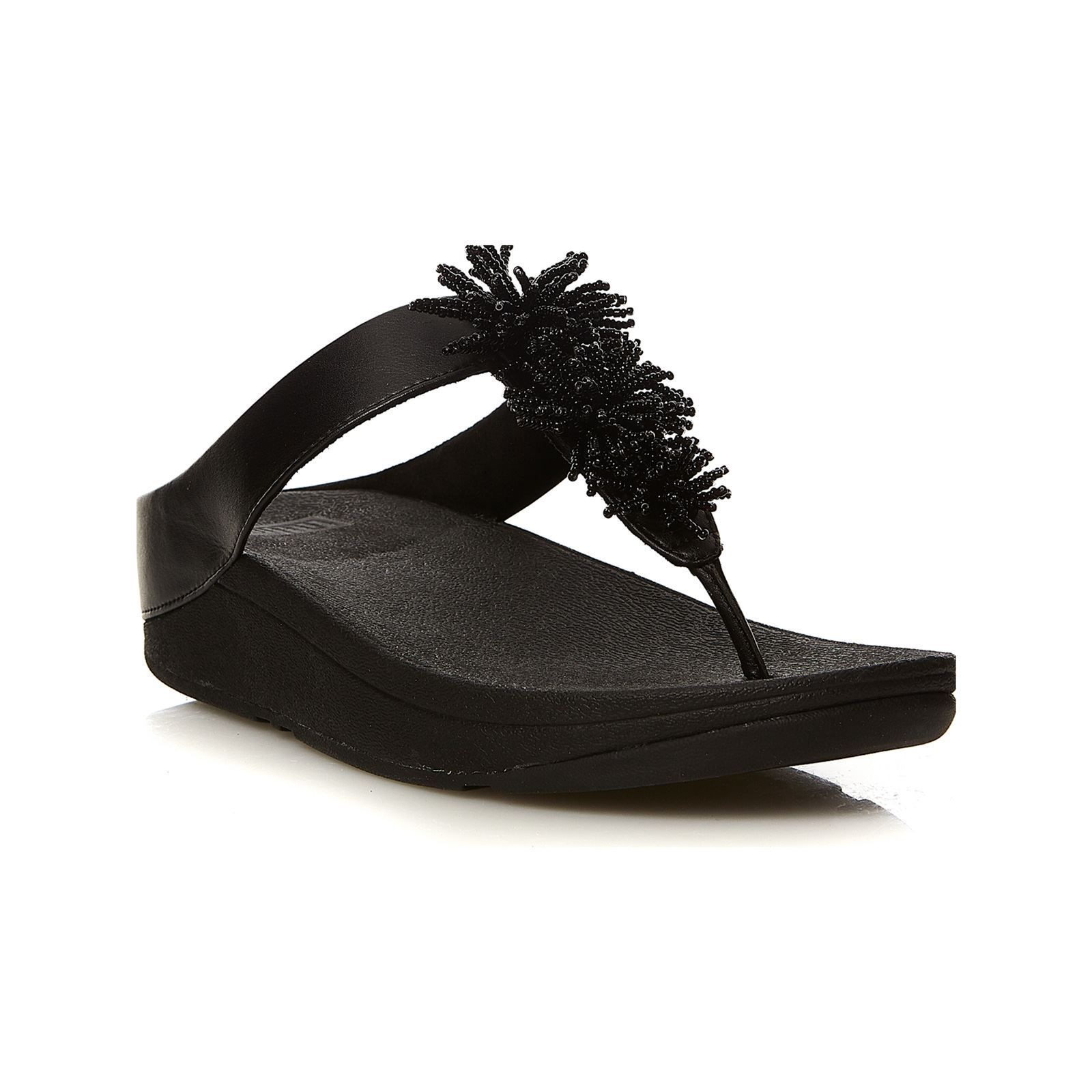Bead Fino Fitflop Tongs Pompom NoirBrandalley qcALR354jS