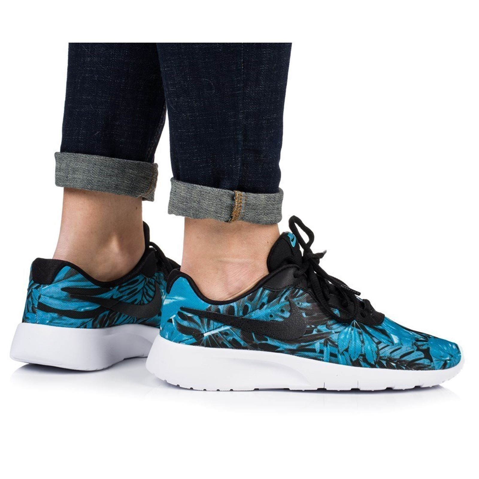 reputable site 5d348 22ebb NIKE Tanjun print gs - Baskets basses - bleu