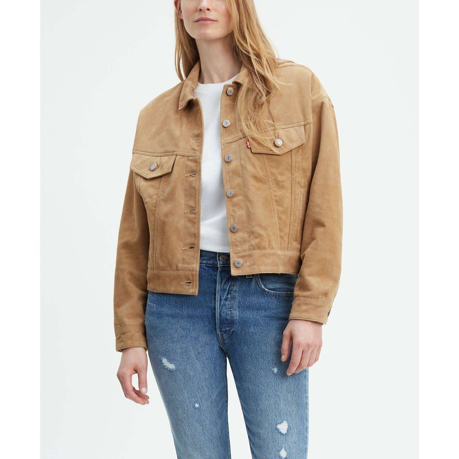 pretty nice 56556 38fbf Levi's Slouch - Giacca in pelle - oro | BrandAlley