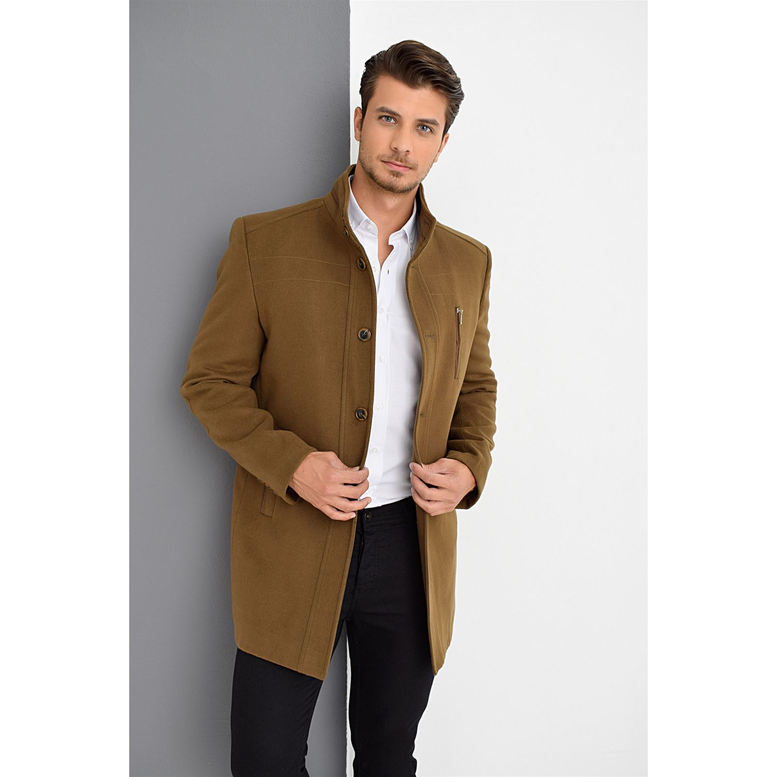 Dewberry Manteau 70% laine camel | BrandAlley