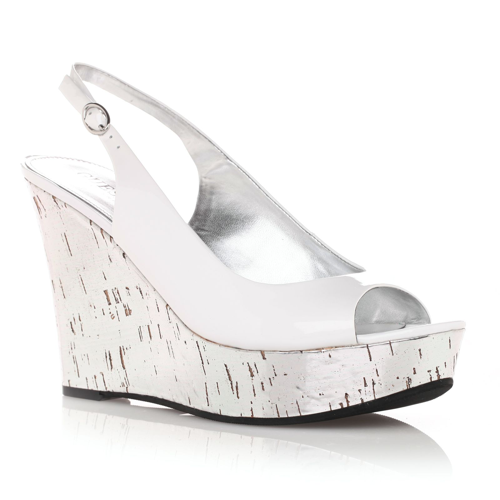 MARCIANO LOS ANGELES Guess - Chaussures à talon compensé blanches - by  Marciano b6432b63d629