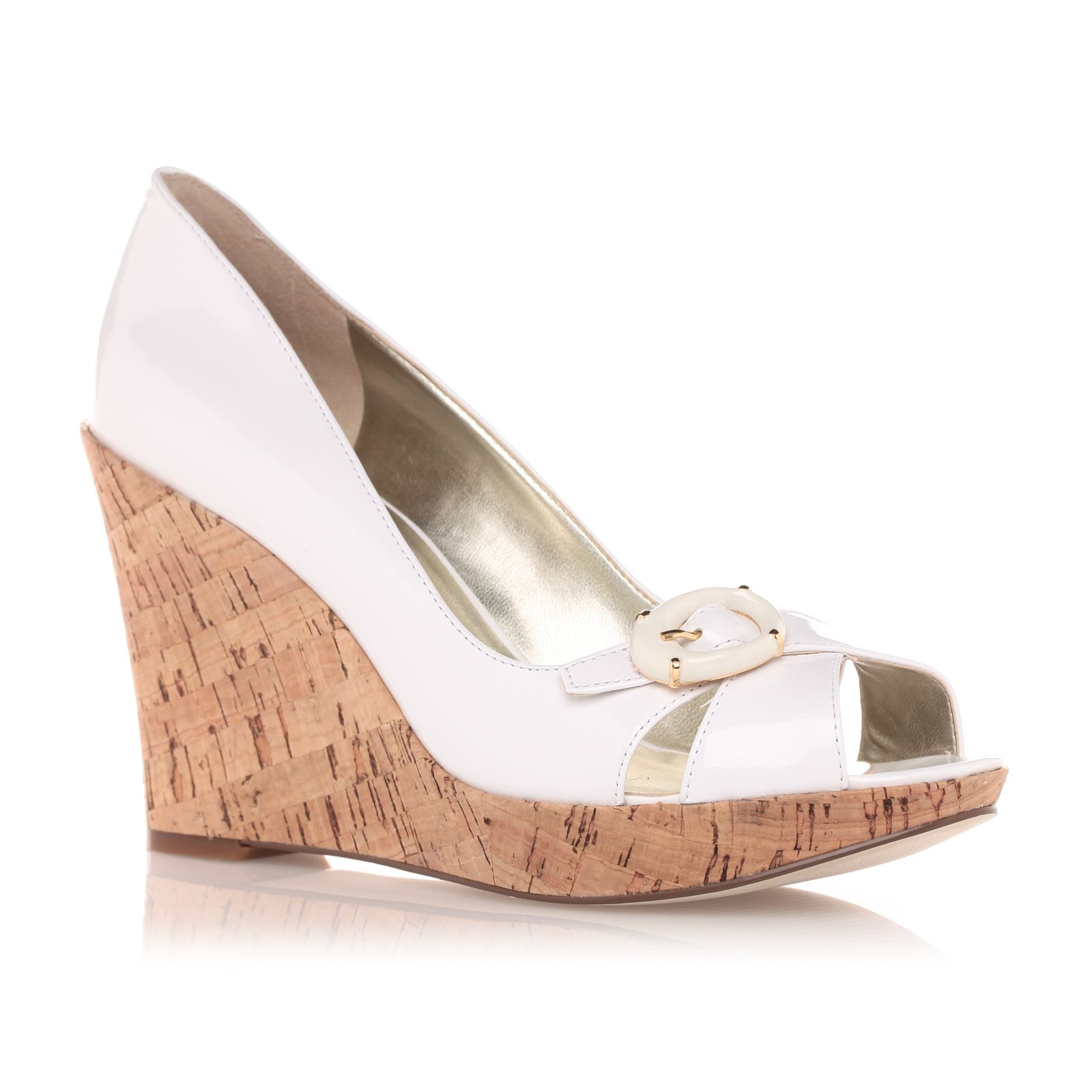 MARCIANO LOS ANGELES Guess - Chaussures à talon compensé blanches vernis -  by Marciano ccfb1440d05
