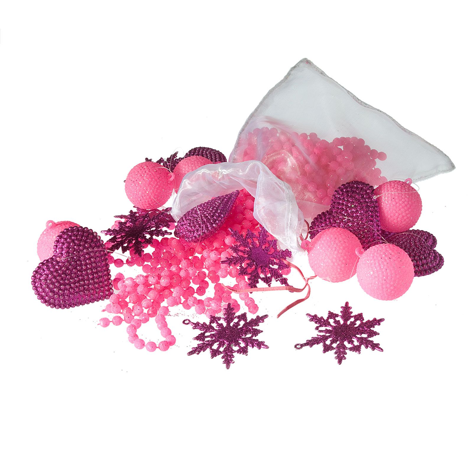 Sia d corations de no l rose et violette rose brandalley for Sia decoration noel