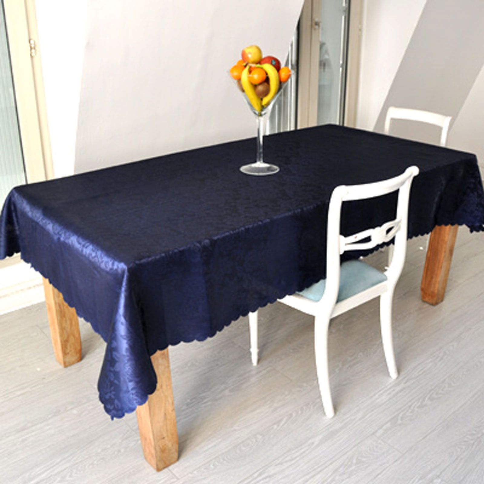 house collection nappe rectangulaire bleu marine brandalley. Black Bedroom Furniture Sets. Home Design Ideas
