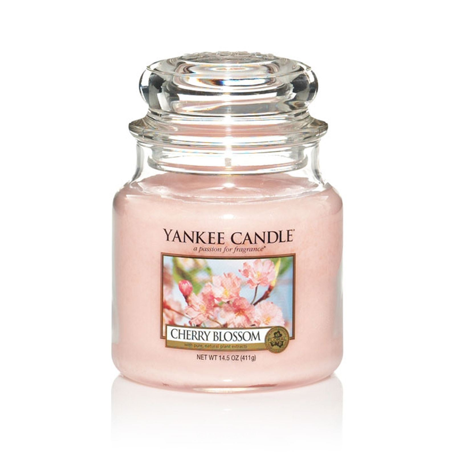 yankee candle fleur de cerisier mittelgro es glas rosa brandalley. Black Bedroom Furniture Sets. Home Design Ideas