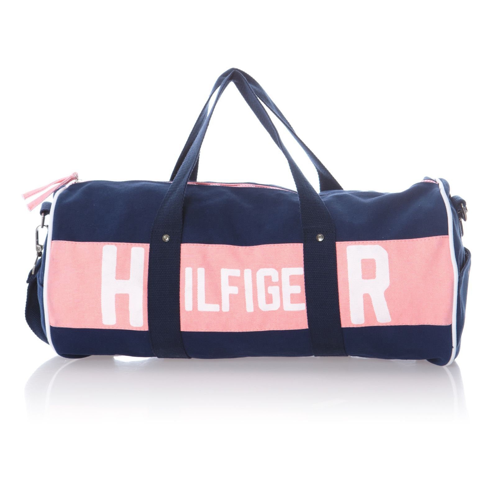 tommy hilfiger sac de sport bleu marine et rose bleu. Black Bedroom Furniture Sets. Home Design Ideas