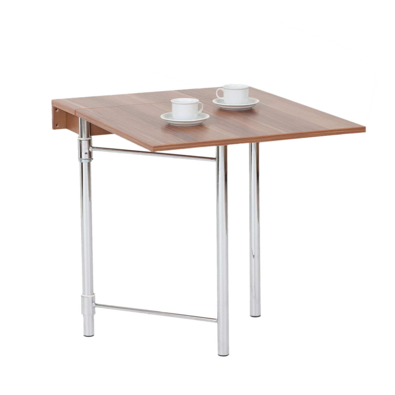 Cool hoffmann sumatra table pliante murale noyer fonc with for Table pliante avec rallonge