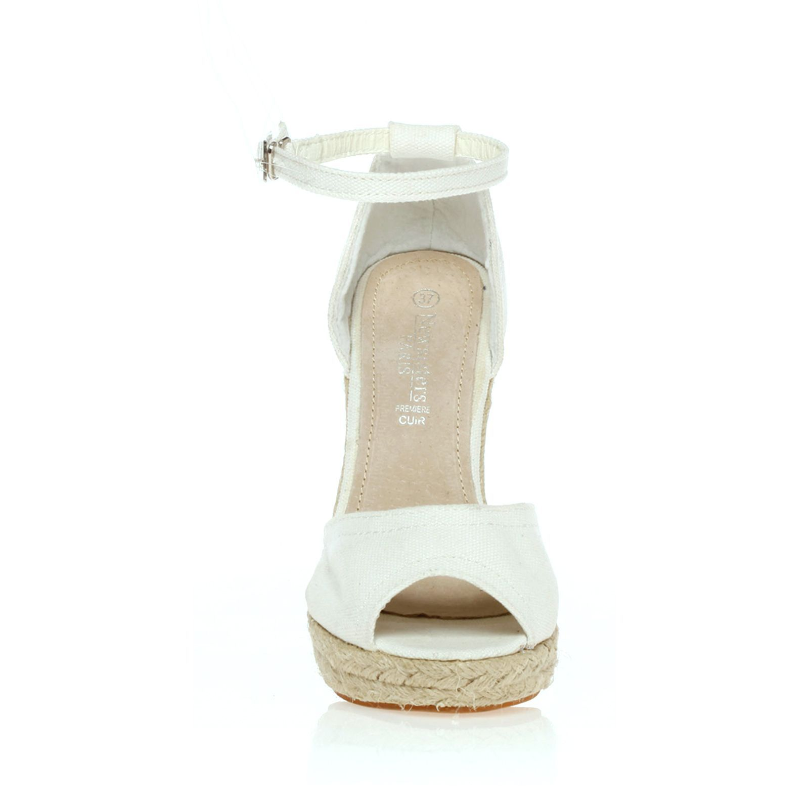 Newsisters Sandales compensées blanches   BrandAlley 80a4a06b8f2b