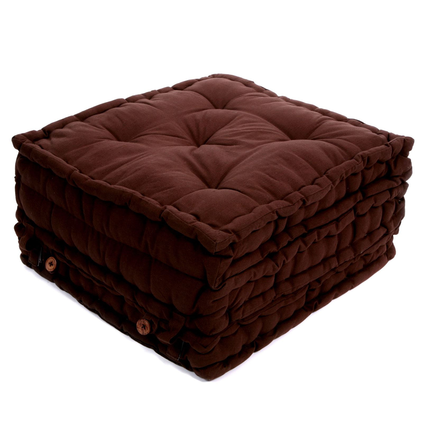 home spirit geisha coussin de sol d pliant choco 50x50x30 brandalley. Black Bedroom Furniture Sets. Home Design Ideas