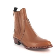 Jenifer - Boots - en cuir marron