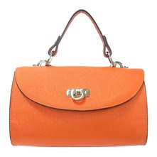 Daphnée - Sac à main en cuir - orange