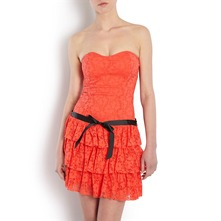Robe bustier - orange