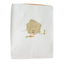 Lapinou - Couverture Nid d'abeille - orange
