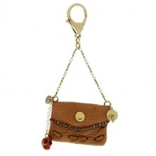 Sac miniature - Porte clé - marron