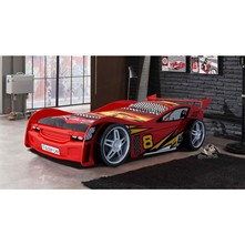 Lit - rouge Voiture Night Racer 90*200cm