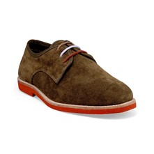 Derbies - en cuir kaki