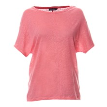 T-shirt - en lin rose