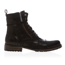 MELTING ZIPPER - Boots - en cuir noir