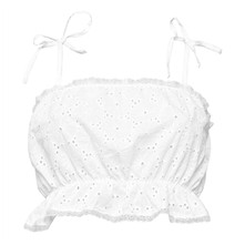 DO YOU SAINT TROPEZ - Top en coton et broderie anglaise - blanc