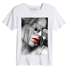 NYC glasses - T-shirt - blanc