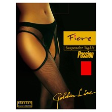 Passion - Collants résille - rouge