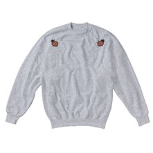 Sweat-shirt en coton Coccinelles - chiné gris