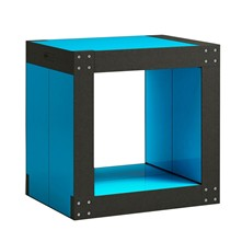 Table d'appoint modulable 4 lems - bleu turquoise