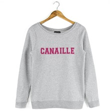 Sweat Pink Canaille - gris