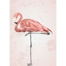 Affiche et illustration Papier A3 Flamant Rose
