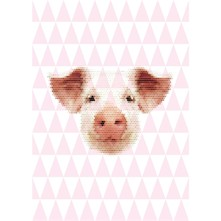 Affiche et illustration Papier A3 Cochon - rose