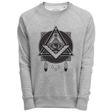 Sweat Shirt Gris imprimé graphique illuminati - gris