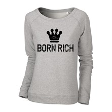 Sweat shirt en coton - gris chiné Born Rich