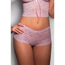 Miss Sporty - Shorty en tulle bicolore - rose