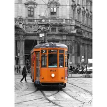 Orange Tram - Tableau - orange