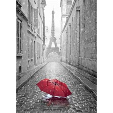 Red Umbrella - Affiche - gris