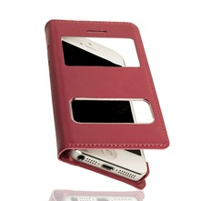 iPhone 4/4S - Etui à double fenêtre - rose