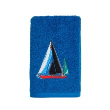 Skipper - Serviette - bleu