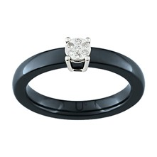 Bague en or sertie de diamants - noir